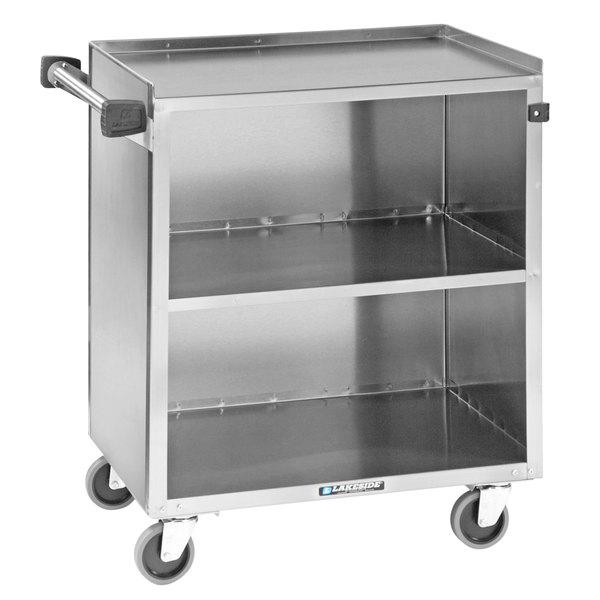 "Lakeside 622 3 Shelf Stainless Steel Utility Cart - 31 3/4"" x 19"" x 33 7/8"" Main Image 1"