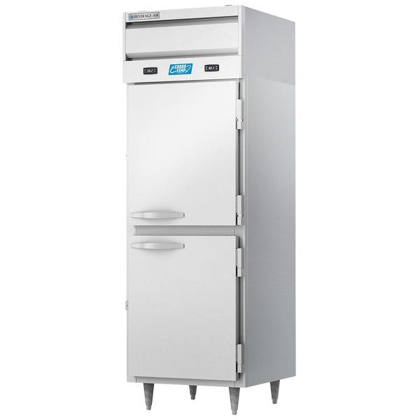 Beverage-Air CT12-12HC-1HS Cross-Temp Half Door Convertible Reach-In Refrigerator / Freezer