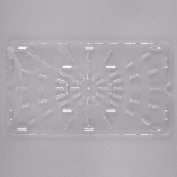 Carlisle 1021507 StorPlus Full Size Clear Polycarbonate Drain Tray