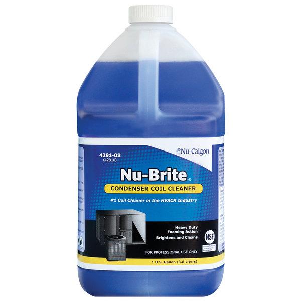 Nu-Calgon 4291-08 1 Gallon Nu-Brite Condenser Coil Cleaner - 4/Case