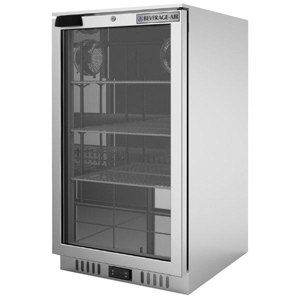 Beverage-Air CT96HC-1-S-MR Stainless Steel Countertop Display Refrigerator with Swing Door Main Image 1