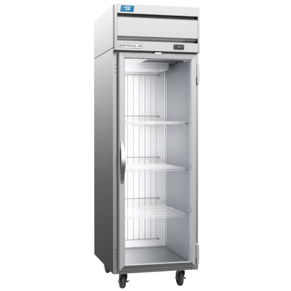 Beverage-Air CT1HC-1G Cross-Temp 1 Section Convertible Reach-In Refrigerator / Freezer with Glass Door Main Image 1