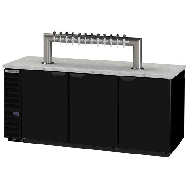 Beverage-Air DD78HC-1-B-12T Twelve Tap Kegerator Beer Dispenser - Black, (4) 1/2 Keg Capacity