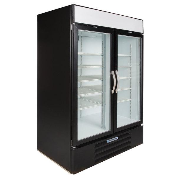 """Beverage-Air MMF49HC-1-B MarketMax 52"""" Black Glass Door Merchandising Freezer - 46.2 Cu. Ft."""