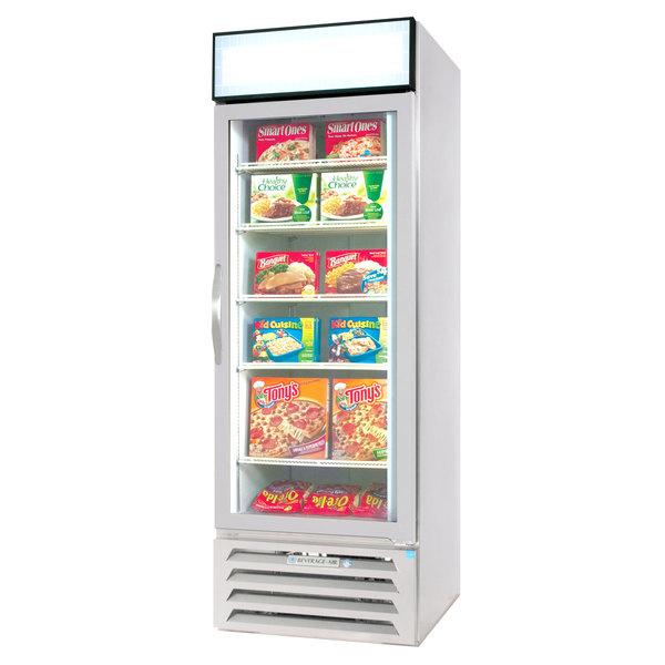 "Beverage-Air MMF12HC-1-W-EL MarketMax 24"" White Glass Door Merchandiser Freezer with Electronic Lock - 11.9 cu. ft."
