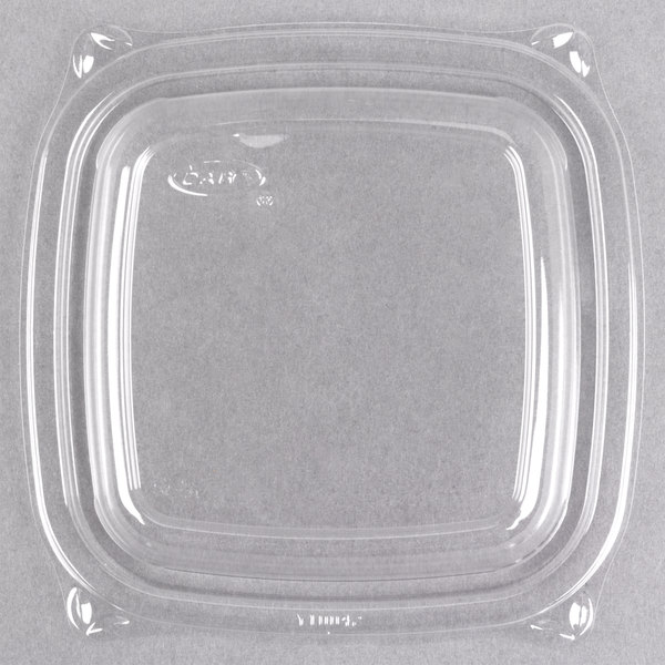 Dart C816BDL PresentaBowls Pro Clear Square Lid for 8, 12, and 16 oz. Square Plastic Bowls - 504/Case Main Image 1