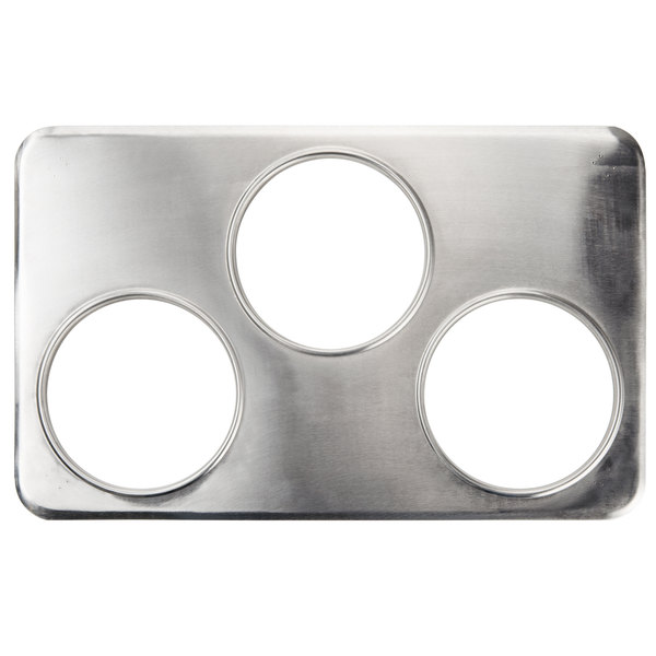 """3 Hole Steam Table Adapter Plate - 6 3/8"""" Main Image 1"""