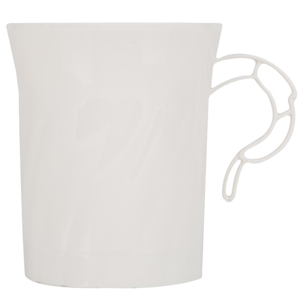 WNA Comet CWM8192IVR Classicware 8 oz. Ivory Plastic Coffee Cup  - 8/Pack