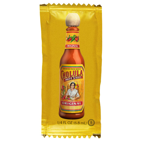 Cholula 0.25 oz. Original Hot Sauce Portion Packet - 200/Case