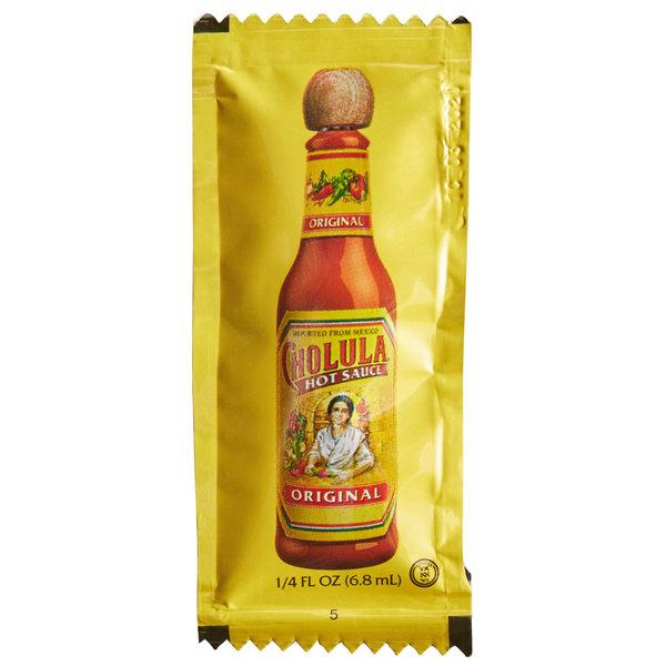 Cholula 0 25 Oz Original Hot Sauce Portion Packet 200 Case
