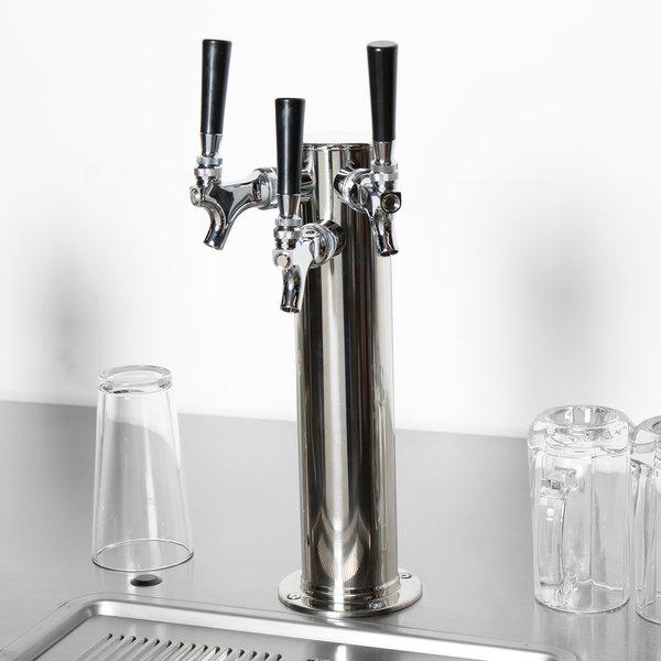 "Beverage-Air 406-055A 3 Tap Tower - 3"" Column Main Image 7"