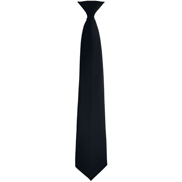 """Henry Segal 3 1/2"""" Customizable Black Pre-Knotted Zipper Straight Neck Tie Main Image 1"""