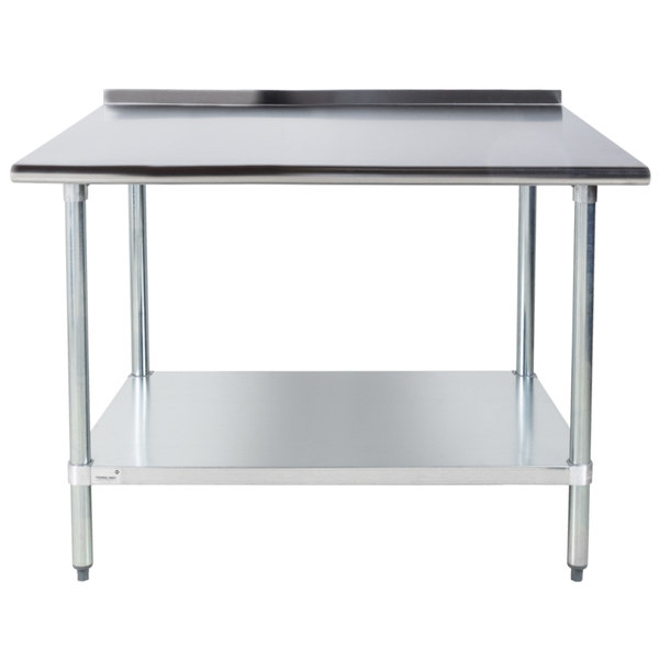 Advance Tabco FLAGX X Gauge Stainless Steel Work - 16 gauge stainless steel work table