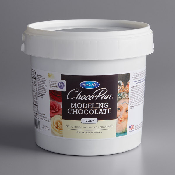 Satin Ice ChocoPan 10 lb. Ivory Modeling Chocolate Main Image 1