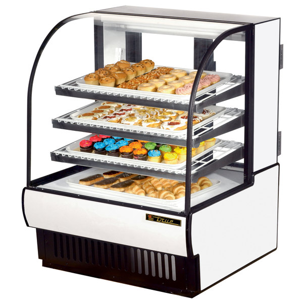 True TCGD-36 36 inch White Dry Bakery Display Case
