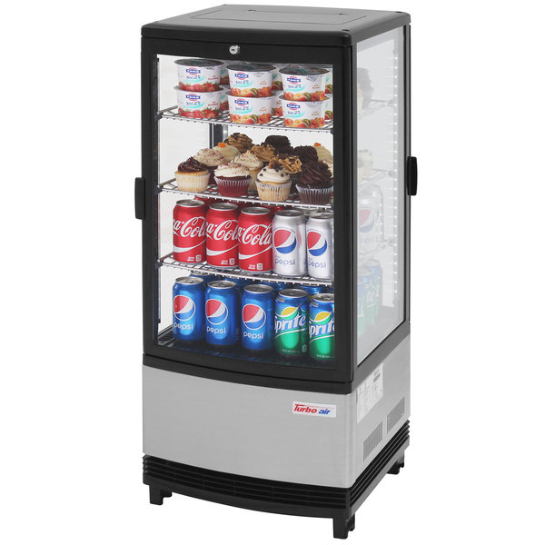 Turbo Air Crt 77 2r Diamond Show Case Pass Through Countertop Display Refrigerator With Swing Doors