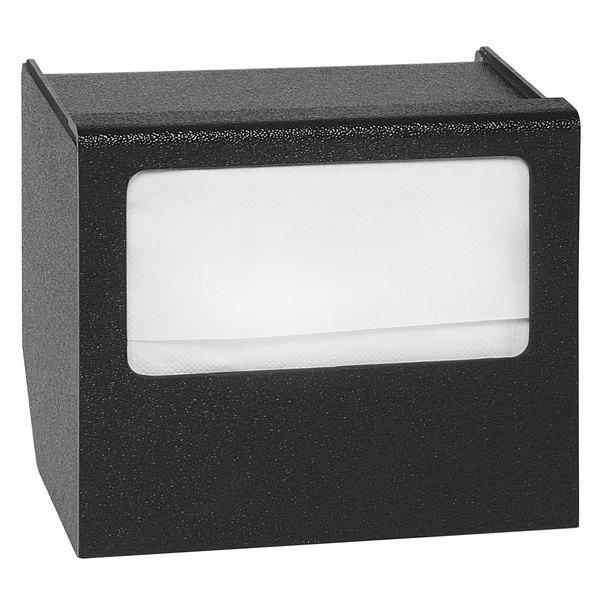 Vollrath MN-1 ModuServ Black Small Flush-Mount Napkin Dispenser Main Image 1