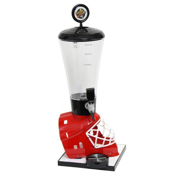 Beer Tubes HRE-ST-STAP 1/4 128 oz. Super Tube Red Hockey Helmet Beer Tower Main Image 1