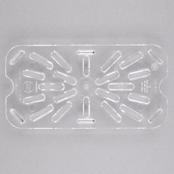 Cambro 40CWD135 Camwear 1/4 Size Clear Polycarbonate Drain Tray Main Image 1