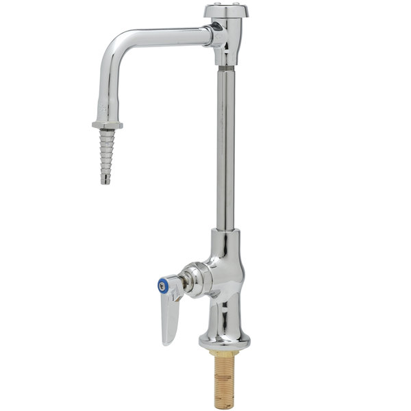 Hot T&S BL-5709-08 Single Ledge Lab Faucet with Rigid Gooseneck and Vacuum Breaker - Taper Style Body