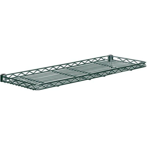 "Metro 1224CSN-DSG Smoked Glass Cantilever Shelf - 12"" x 24"" Main Image 1"