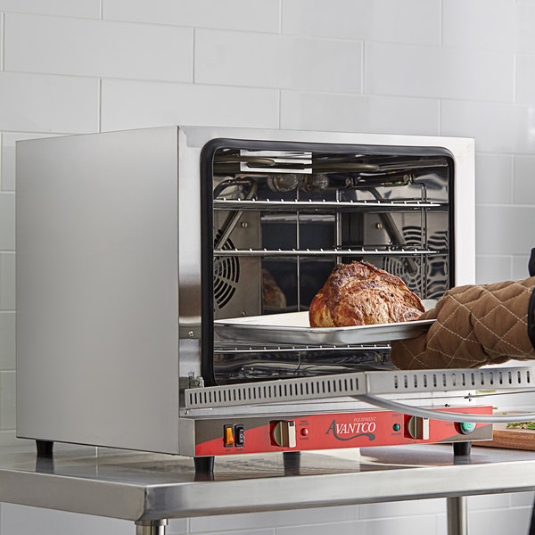 Avantco CO-32 Half Size Countertop Convection Oven with Steam Injection, 2.3 Cu. Ft. - 208/240V, 2800W Main Image 5