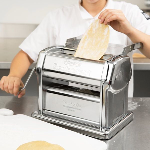 "Imperia Manual Stainless Steel 8 1/4"" Pasta Machine"