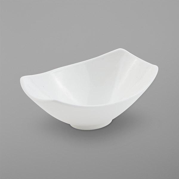 Bon Chef 2511PWHT Gondola 11 oz. White Sandstone Cast Aluminum Bowl