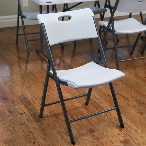 Strange Lifetime 80643 White Folding Chair With Carrying Handle 4 Pack Pdpeps Interior Chair Design Pdpepsorg