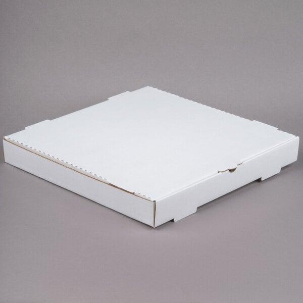 "16"" x 16"" x 2"" White Customizable Corrugated Plain Pizza / Bakery Box - 50/Bundle Main Image 1"