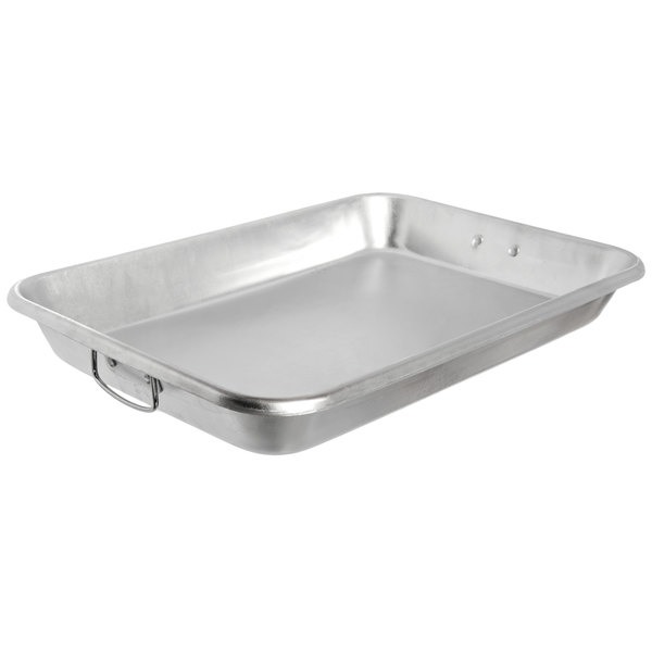 "Carlisle 601923 19 Qt. Aluminum Bake Pan with Drop Handles - 26"" x 18"" x 3 1/2"" Main Image 1"