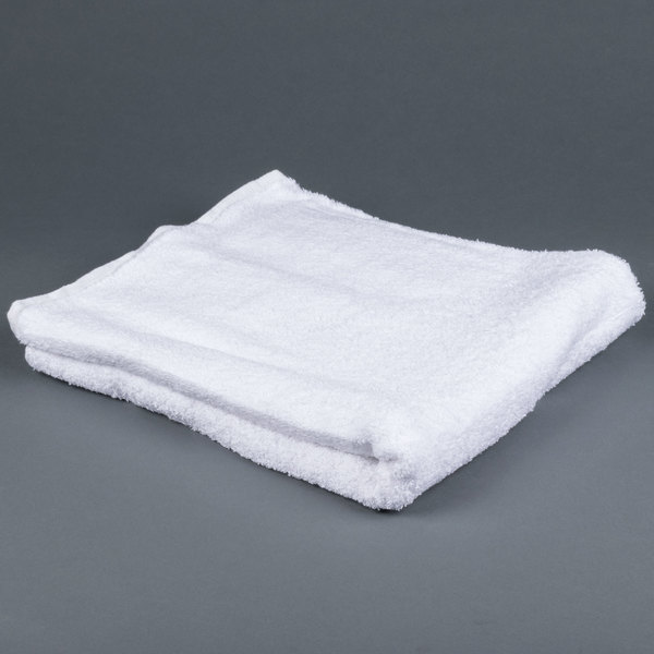 Lavex Lodging 27 inch x 54 inch 100% Ring Spun Cotton Hotel Bath Towel 17 lb. - 12/Pack