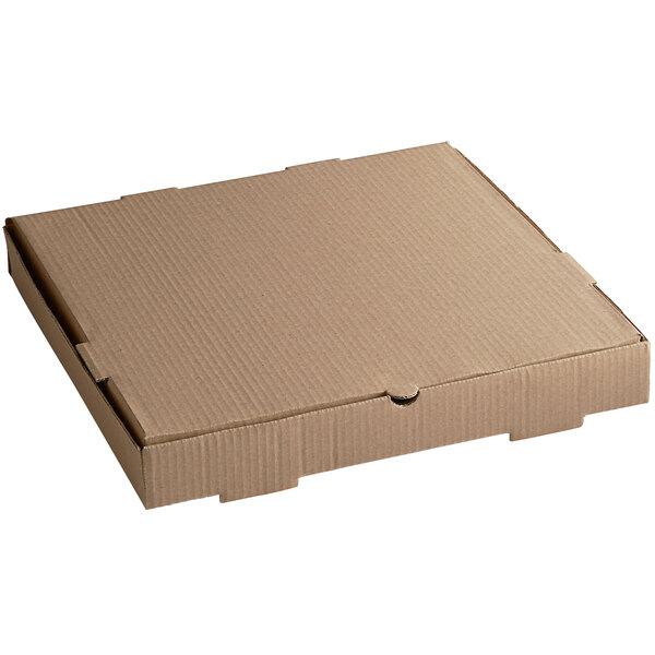 "16"" x 16"" x 2"" Kraft Customizable Corrugated Plain Pizza / Bakery Box - 50/Bundle Main Image 1"