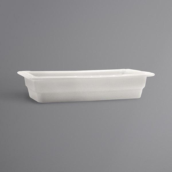 """Hall China 1014P0ABWA 1/3 Size 2 1/2"""" Deep Bright White China Food Pan"""