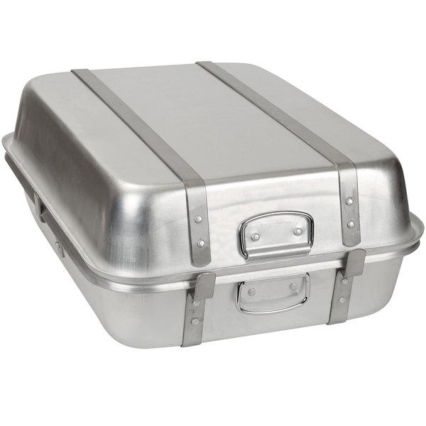 """Carlisle 60346 52 Qt. Aluminum Double Roast Pan - 24"""" x 18"""" x 9"""" Main Image 1"""