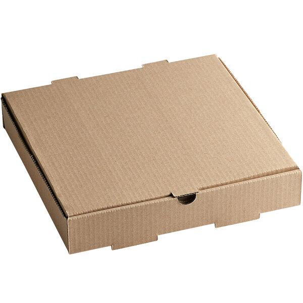 "12"" x 12"" x 2"" Kraft Customizable Corrugated Plain Pizza / Bakery Box - 50/Bundle Main Image 1"