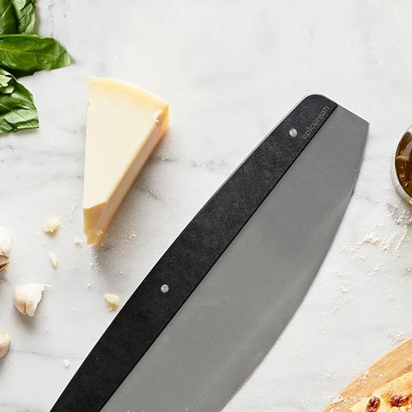 "Epicurean 017-RS001602 16 1/4"" x 4 1/2"" Stainless Steel Pizza Rocker Knife with Slate Richlite Wood Fiber Handle Main Image 2"
