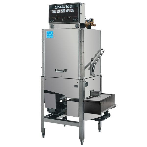 CMA Dishmachines CMA-180SB Single Rack High Temperature Straight Dishwasher with Booster Heater - 208/240V, 3 Phase Main Image 1