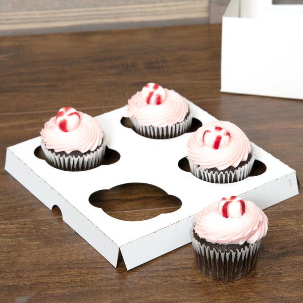 Baker's Mark Reversible Cupcake Insert - Standard - Holds 4 Cupcakes - 200/Case Main Image 5