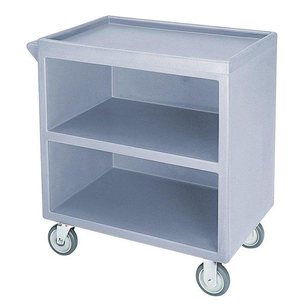 "Cambro BC330401 Slate Blue Three Shelf Service Cart with Three Enclosed Sides - 33 1/8"" x 20"" x 34 5/8"" Main Image 1"