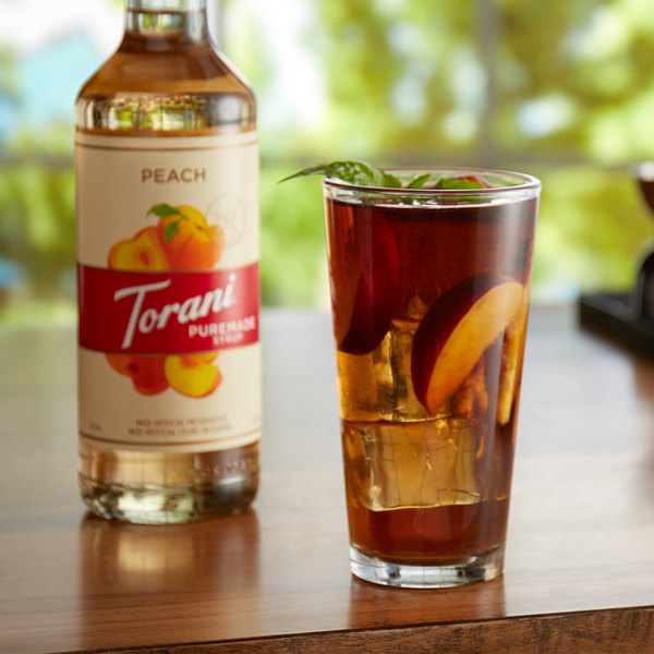 Torani 750 mL Puremade Peach Flavoring Syrup