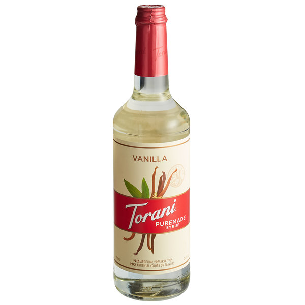 Torani 750 mL Puremade Vanilla Flavoring Syrup