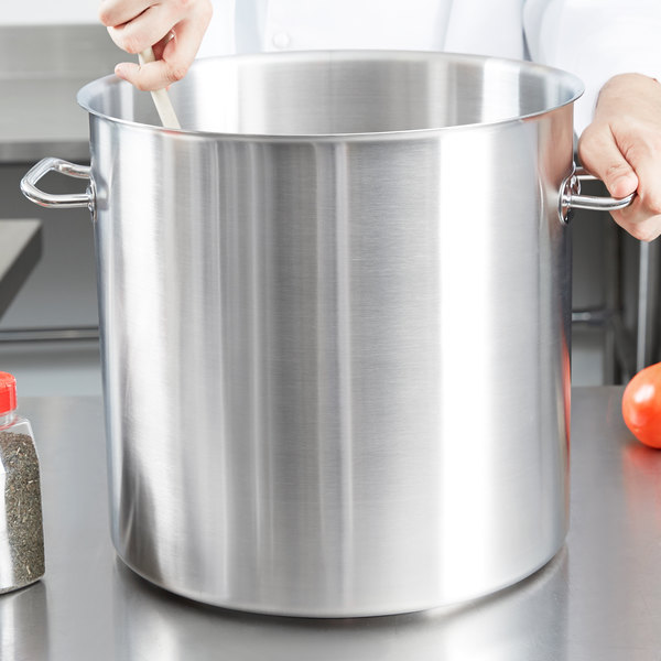 Vollrath 47724 Intrigue 38 Qt. Stainless Steel Stock Pot