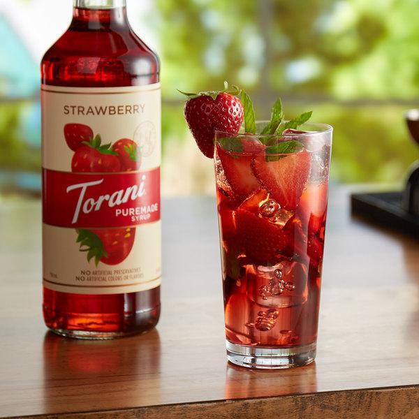 Torani 750 mL Puremade Strawberry Flavoring Syrup Main Image 2