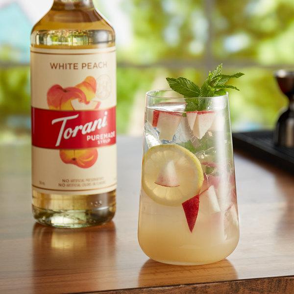 Torani 750 mL Puremade White Peach Flavoring Syrup Main Image 2
