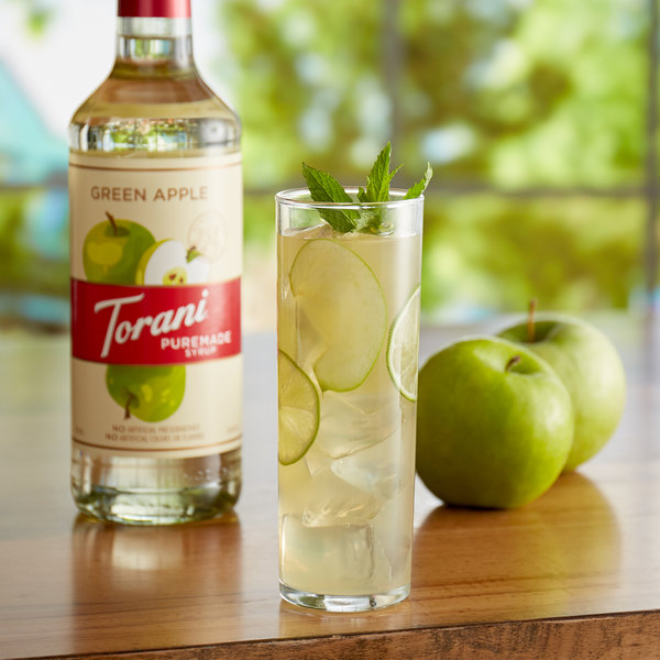 Torani 750 mL Puremade Green Apple Flavoring Syrup Main Image 2