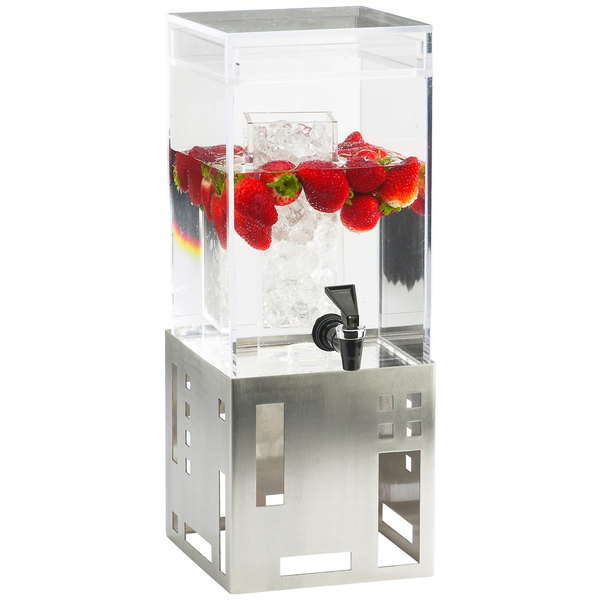 Cal-Mil 1602-1-55 1.5 Gallon Stainless Steel Beverage Dispenser with ... bded083b6fd