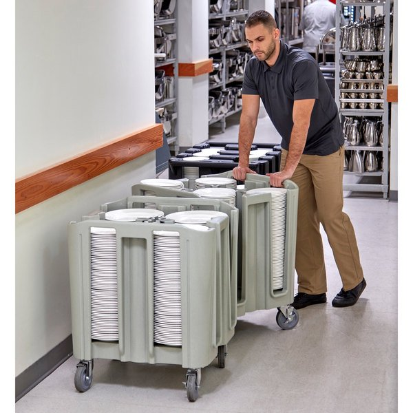 Cambro ADCSC480 S-Series Speckled Gray Compact Adjustable Dish Dolly / Caddy - 4 / 5 Column Main Image 3