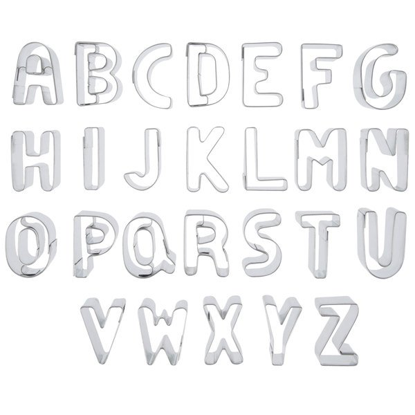 "Ateco 6950 26-Piece 3"" Stainless Steel Alphabet Cutter Set Main Image 1"