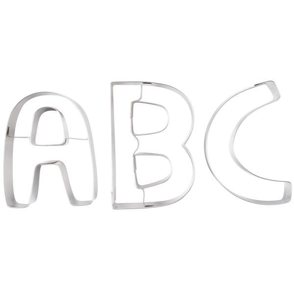 "Ateco 6950 26-Piece 3"" Stainless Steel Alphabet Cutter Set (August Thomsen)"